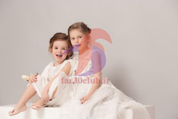 مدل لباس مجلسی دخترانه رنگ صورتی ، مدل لباس مجلسی دخترانه رنگ ابی کاربنی