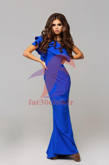 مدل لباس مجلسی بلند جدید ، مدل لباس مجلسی بلند طرح پر