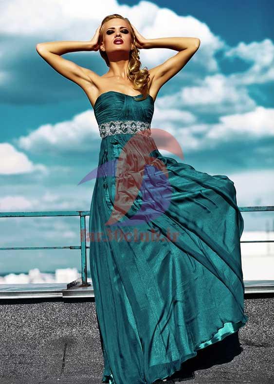 مدل لباس مجلسی بلند استین پفی ، مدل لباس مجلسی بلند اینستاگرام