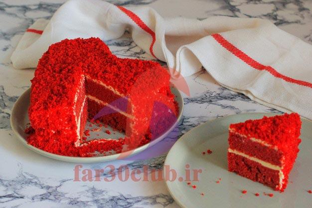 طرز تهیه کیک قرمز با لبو ، طرز تهیه کیک قرمز با آب لبو