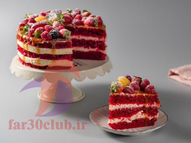طرز تهیه کیک قرمز شب یلدا ، طرز تهیه کیک قرمز ساده